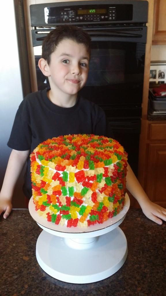 Heavenly Cake Pops Gummy Bear Pinata Cake