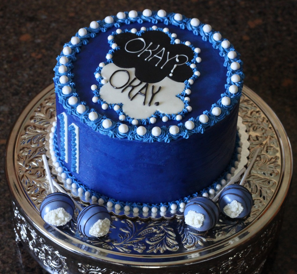 Fault in Our Stars Buttercream Cake Heavenly Cake Pops Easy Roller