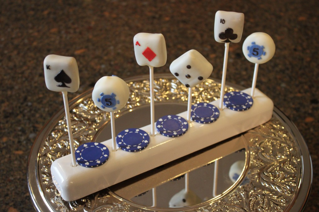 Casino Themed Cake Pops Cricut Explore and the Easy Roller