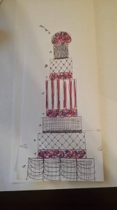 Sketch Tall Wedding Cake Heavenly Cake Pops Easy Roller