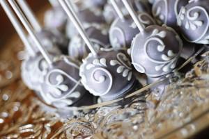 Silver Shimmer Cake Pops
