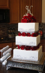 Square Wedding Cake HCP Easy Roller