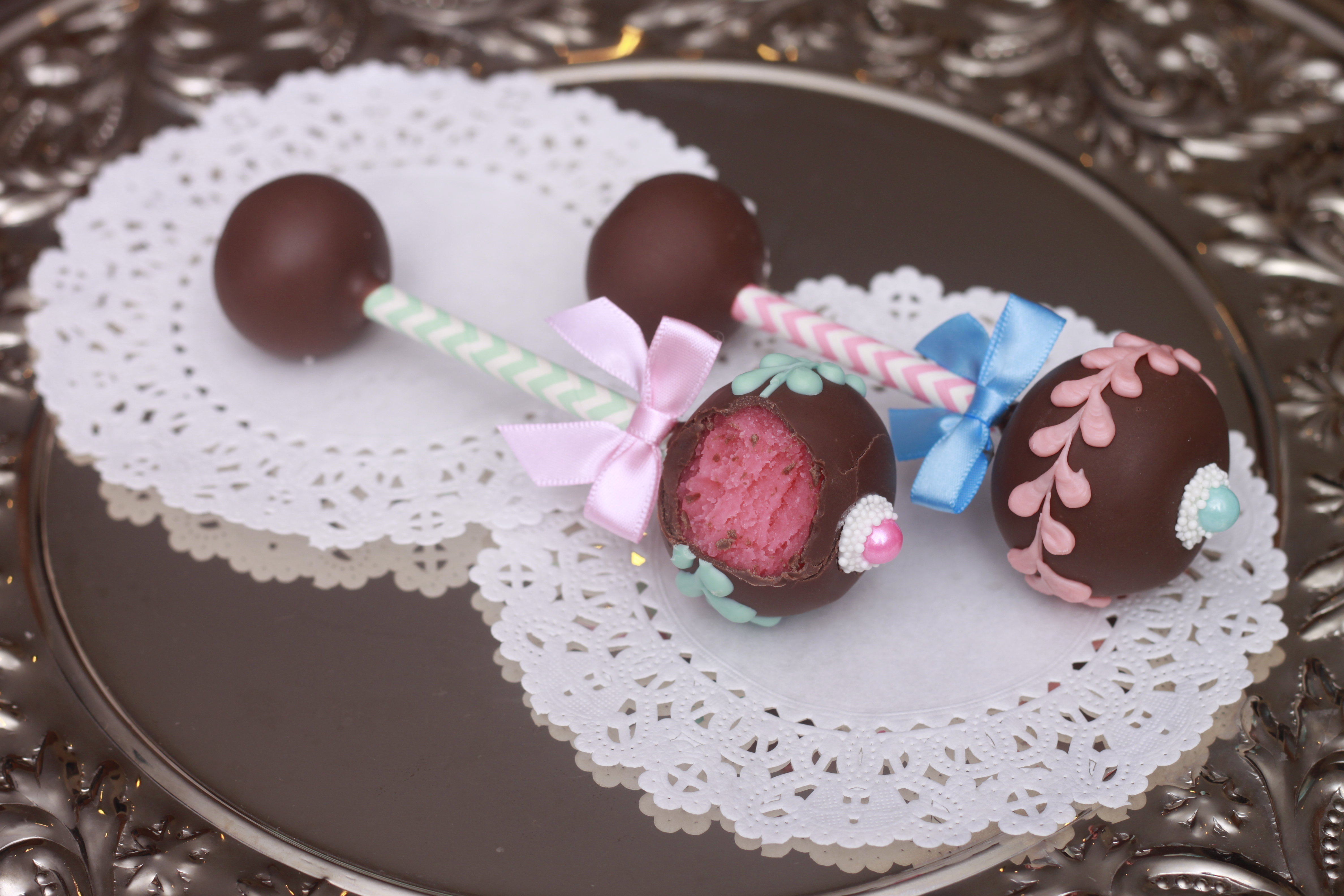 Baby Rattle Cake Decoration : Heavenly Cake Pops Gender Reveal Baby Rattle Cake Pops