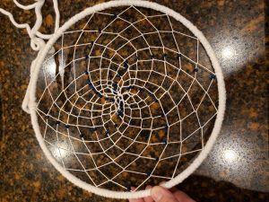 Dream catcher weave with beads