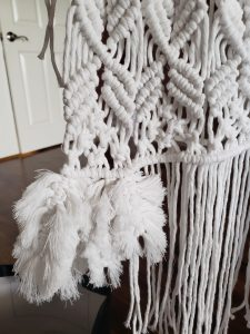 macrame feather process