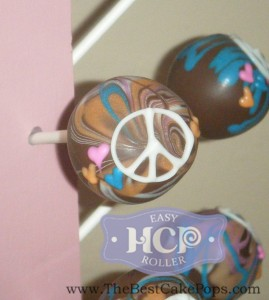 Marble Cake pops with the Easy Roller. Hippy Peace, love and cake pops!