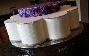 Pedal Tier of Tall Wedding Cake by Heavenly Cake Pops Easy Roller 14